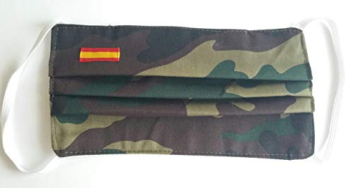 Pack 2 hombre camuflaje bandera de España doble tela