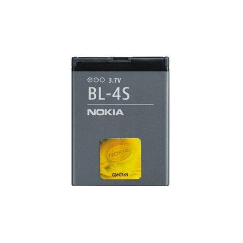 Nokia Battery BL-4S, Litio-Ion, 860 mAh, 3.7 V, 2680 slide, 3600 slide, 7100 Supernova, 7610 Supernova, Gris