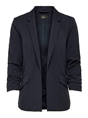 ONLY Damen Anzugjacke onlCAROLINA DIANA 3/4 BLAZER CC TLR Blau (Night Sky), (Herstellergröße:36)
