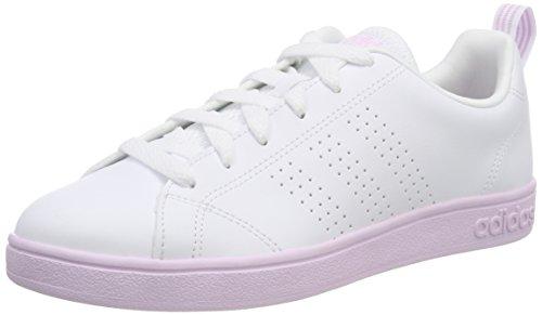adidas Vs Advantage Clean, Zapatillas de Tenis Mujer, Blanco (Ftwwht/Ftwwht/Aerpnk 000), 38 2/3 EU