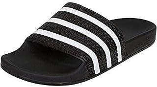 Mens Adilette Black Synthetic Sandals 7 US