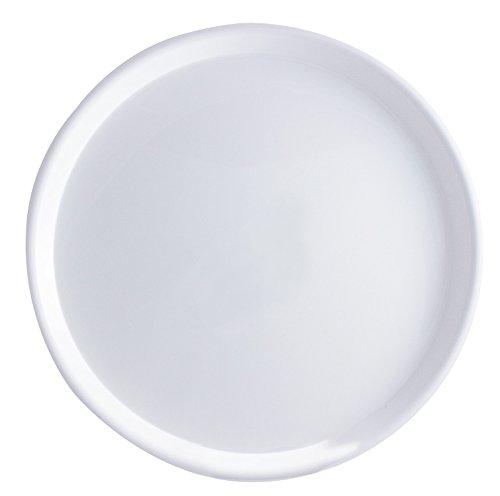 Serviertablett Durchmesser 370 mm rund rutschfest (Weiß)