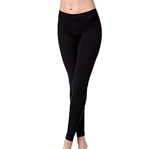leggings donna cotone elasticizzato nero JADEA art.4265 (S/M)