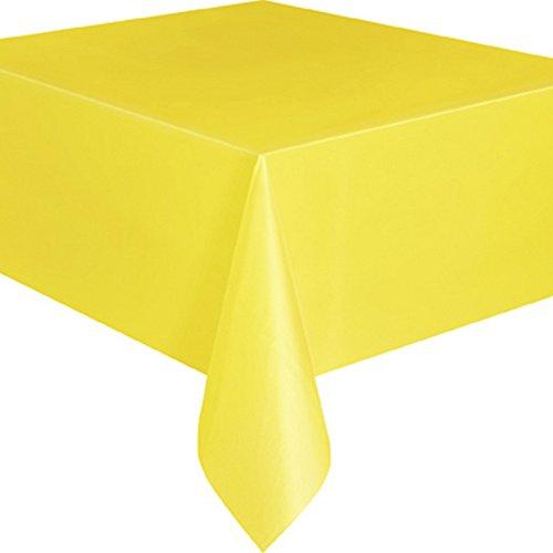 Tovaglia Plastica Giallo 137x274cm