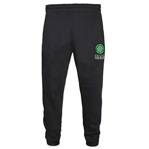 Celtic FC Official Gift Boys Slim Fit Fleece Joggers Jog Pants Black 10-11 Years