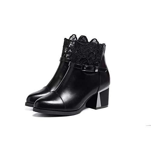 Shukun enkellaarsjes Women'S Boots, kinderlaarzen, puntige wind, Martin laarzen, voeten, voeten