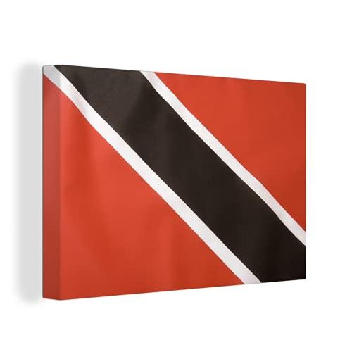 Leinwandbild - Flagge von Trinidad & Tobago - 150x100 cm