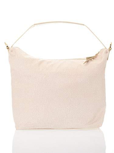 Borbonese Hobo Bag, Borsa a Spalla Donna, Avorio (Cream), 30x31x12 cm (W x H x L)