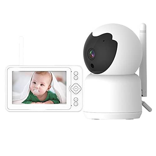 HDHUIXS High-Definition Baby Monitor, 5-inch Large Screen, Baby Monitor, Wireless Baby Care Device, Video Intercom