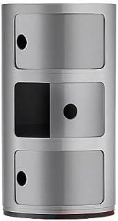 Kartell コンポニビリ3 シルバー φ32/H58.5cm SFNT-K4967-SI