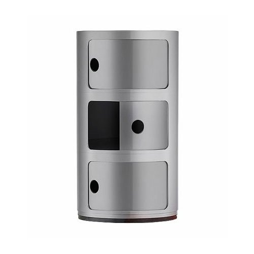 Kartell 4967/SI nachtkastje CompONIBILE zilver