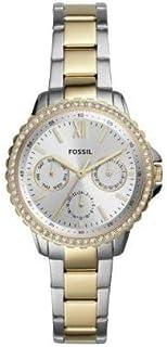 ساعة ايزي من فوسيل للنساء تصميم كاجوال، كوارتز وبسوار ستانلس ستيل ES4784