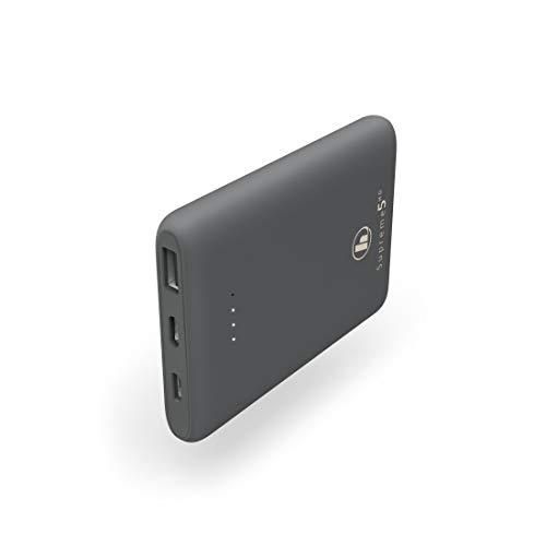 Hama Power Pack Supreme 5HD (integriertes Lithium-Polymer-Ladegerät, 5000 mAh, für Smartphone, 1 Micro-USB, 1 USB-C, 1 USB-A, USB 3.0) anthrazit