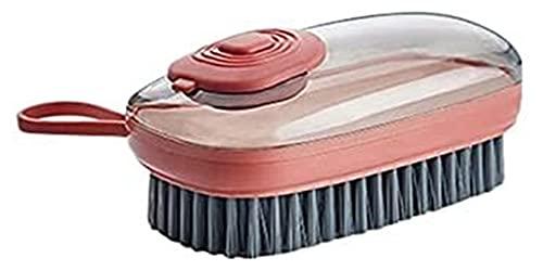 JJZXPJ Limpiador Cepillo lavandería Cepillo lavandería Cepillo Multifuncional Limpieza casera Cepillo Ropa Cepillo Plato Cepillo Zapato automático líquido adición de Limpieza Cepillo (Color : Orange)