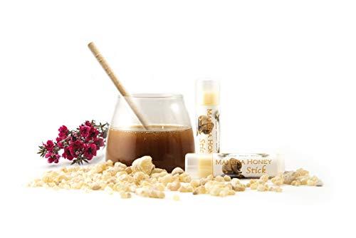 Manuka Honey Moisture Stick (HUGE on-the-go 0.5 oz tube) - Super Emollient Lip Balm, Spot Treatment for All Skin Types incl. Eczema, Psoriasis, Sensitive Skin - Grass-fed Tallow - Balm of Gilead …