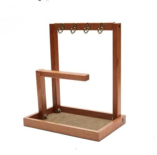Bandeja para joyas, cuenco para llaves, soporte para anillos de madera para mesa de entrada, organizador colgante para soporte de joyería, bandeja para baratijas, collar para pendientes, soporte