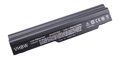 vhbw Batterie 6600mAh Notebook Medion Akoya S5610, MD96729, MD96733, MD97330, Hasee L420T, HP940D3, HP940 comme BP4S3P2200, 441819300014, ICR18650NH