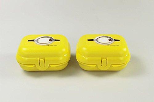 TUPPERWARE To Go Mini-Twin (2) Minions Brotdose Lunchbox Größe 1 gelb 26580