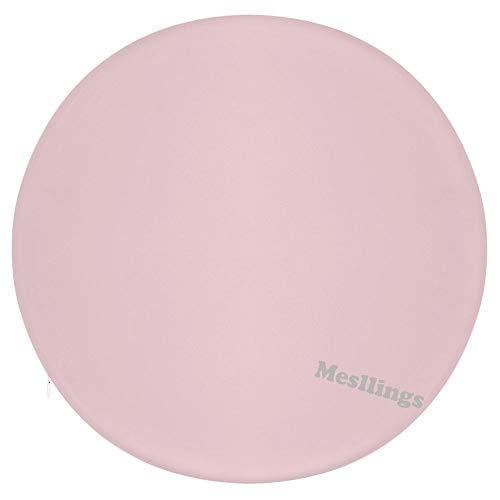 Mesllings - Cojines para silla de oficina, diseño impreso en color rosa pálido, redondos, cómodos y cómodos, de 15,35 pulgadas de diámetro