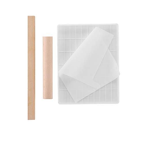 GJCrafts - Juego de herramientas de molde de nuegato, hecho a mano, herramienta de cocción de silicona antiadherente, multifuncional, para caramelos de leche de chocolate