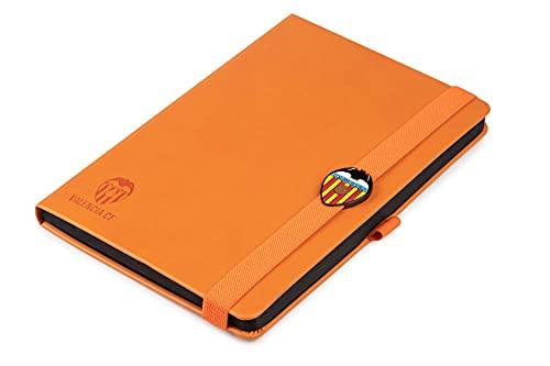 Libreta Valencia CF - Cuaderno con el escudo del Valencia   Bloc de Notas Oficial Tamaño A5 - 96 páginas de 80 gr   14,5x21 cm