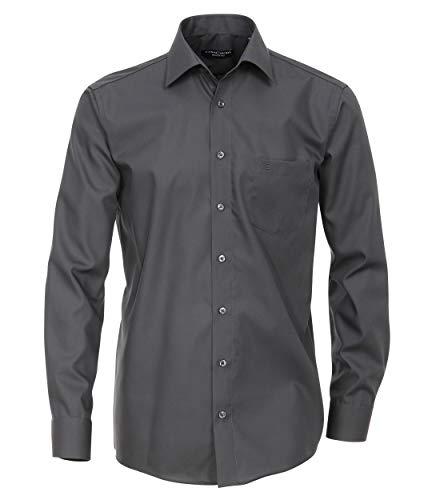 CASAMODA Herren Businesshemd Uni Comfort Fit Dunkelgrau 46
