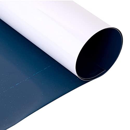 Pizarra blanca de papel adhesivo adecuado para la oficina familiar y la escuela en casa, borrado en seco, sin marco, fácil de llevar, fácil de instalar con adhesivo (tamaño: 70 x 100 cm)