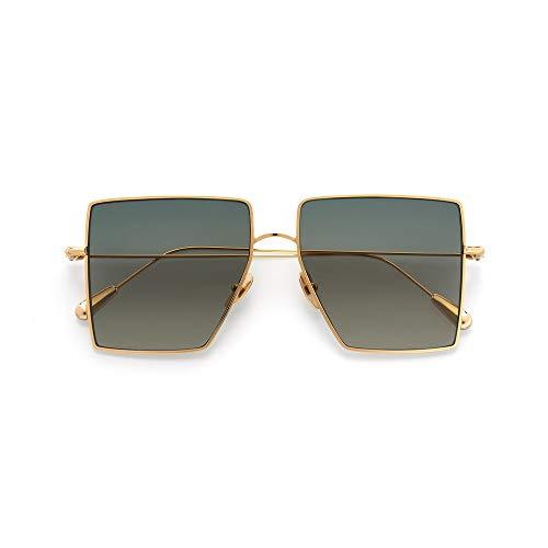 KALEOS Sunglasses STAMPER 4 Titanium Gold Green Gradient C.004 55 15 NEW