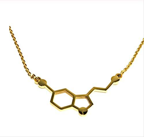 RF1994 Molécule sérotonine dopamine acétylcholine collier pendentif pour hommes et femmes bio symbole unique bijoux bijoux cadeau