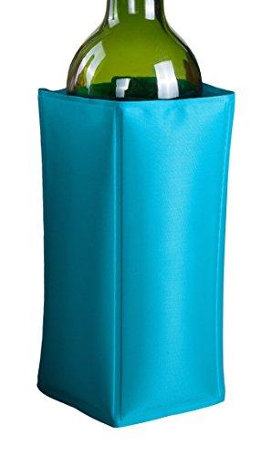 Vinbouquet Funda enfriadora, Nailon, Azul, 14.5 x 20 x 2.5 cm