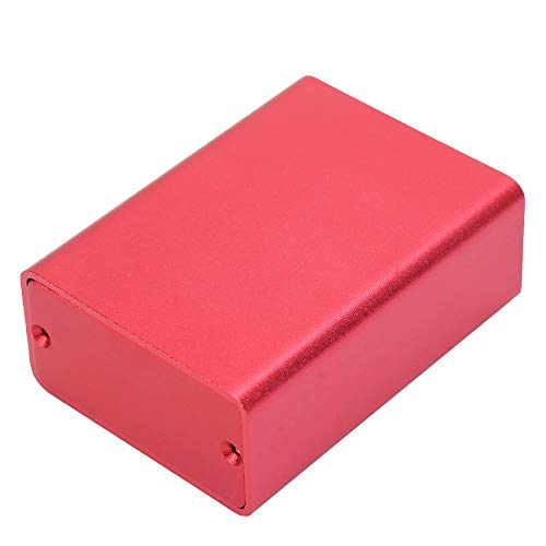 Aluminium Kaste Kühlbox DIY Elektronische Projekt Leiterplatte Instrument Gehäuse Fall Rot