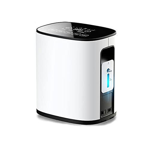HXXXIN Inhalador de oxígeno para el hogar, generador de oxígeno portátil para Mujeres Embarazadas Mayores 1-7L Ajustable