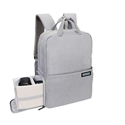 Männer Reisetasche Laptop Kamera Funktionsrucksack USB Camping Rucksack Lade (Color : Gray, Size : S)