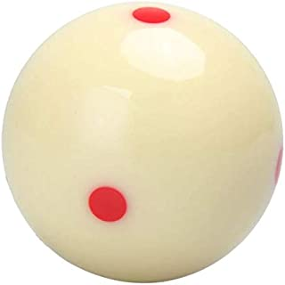 kucoolou 5.72 cm Red 6 Dot-Spot Measly White Pool-Billiard Practice Training Cue Ball Billiard Pool Ball Replacement