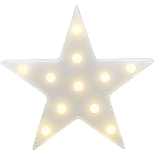 Youngine Decorativa a LED Stella Decorativa Lampada da Tavolo Lampada da Tavolo Decorativa a Parete con Illuminazione Notturna per Bambini (Stella)
