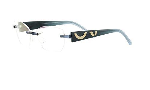 Switch it! Combi 2174 Brille Montur Wechselbrille Garnitur – grün-petrol mit Holzeinlage