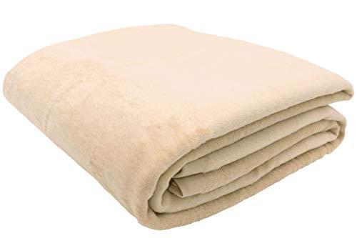 ZOLLNER Manta para Cama 90, Beige, 60% algodón, Medidas