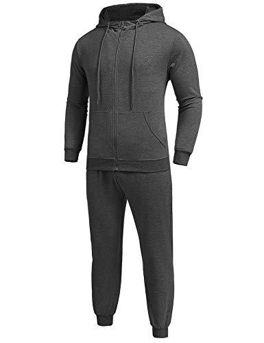 MAXMODA Herren Kontrast Sportanzug Jogginganzug Trainingsanzug Sporthose+Jacke