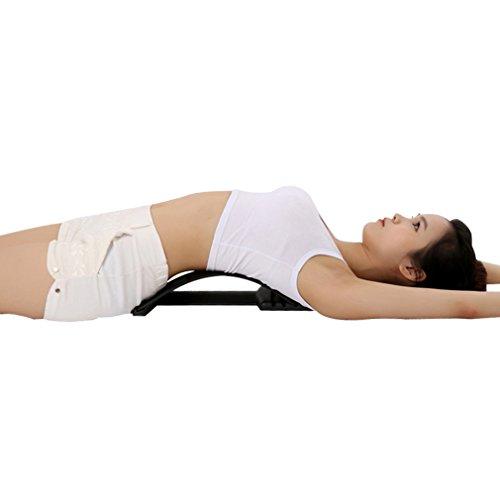 vyset espalda masaje estiramiento Magic (TM) estiramiento Cintura Cuello tracción relajarse apoyo lumbar spine alivio del dolor quiropráctica equipo
