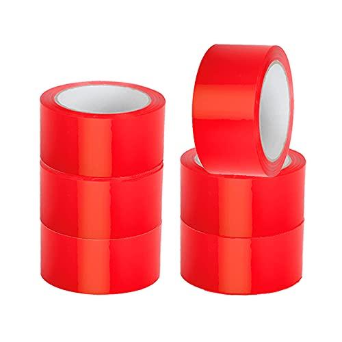 Propac Z-NPPLR50 Nastro Adesivo PPL Colore Rosso, 50 mm x 66 metri, Set di 6 Pezzi