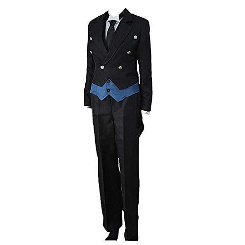 Charous Disfraz de Cosplay de mayordomo Negro de Anime, Conjuntos de Uniformes de Sebastian Michaelis utilizados para Cosplay de Festival o Regalo de Amantes del Anime