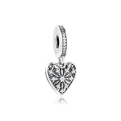 Charms 925 Silber Original Fit Pandora Armbänder Sterling Silber Herz Des Winters Charm Perlen Für Frauen Diy Schmuck