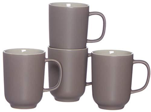 Ritzenhoff & Breker Kaffeebecher-Set Jasper, 4-teilig, je 320 ml, Taupe, Steinzeug