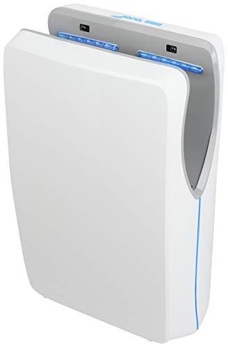 Jofel AA25050 - Secamanos Jet Tifon de alto rendimiento, 1550 W, 540 km/h, ABS antibacteriano, color blanco