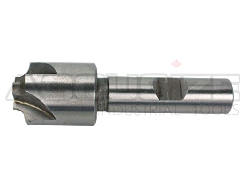 Accusize Industrial Tools 1/8'', H.S.S. Corner Rounding End Mills, 1/2'' Shank Dia, 5/8'' Cutter Dia, 3'' Overall Length, 1011-0018