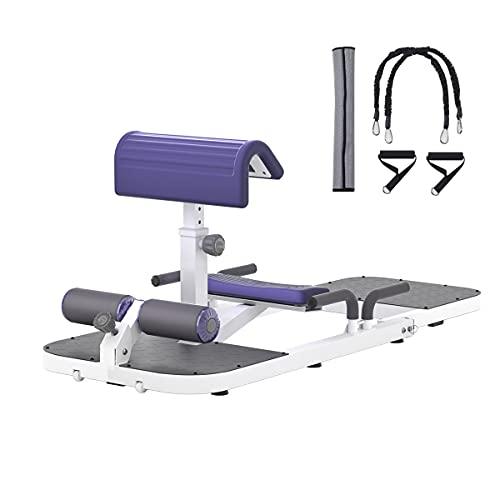seanleecore Protable Deep Squat Machine & Hip Thrust Machine for Home Gym Glutes Workout Station Leg Exercise Machine Glute Trainer White