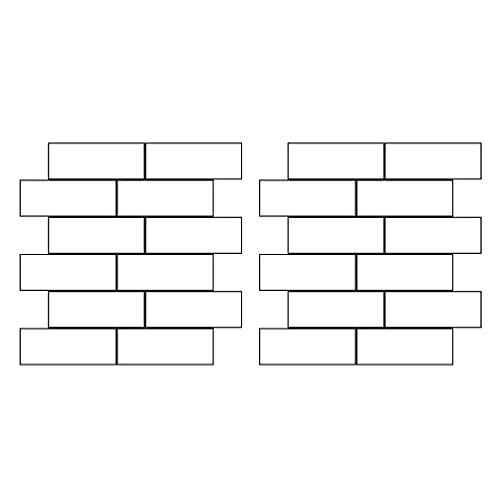 IMIKEYA 2 Piezas de Pegatinas de Pared de Ladrillo Paneles de Pared Azulejos de Pared de Ladrillo Pelar Y Pegar Papel Tapiz para Cocina Baño