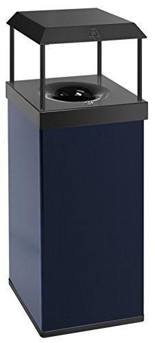 feuerlösch Ender Corbeille à papier 110 L avec toit bleu/noir