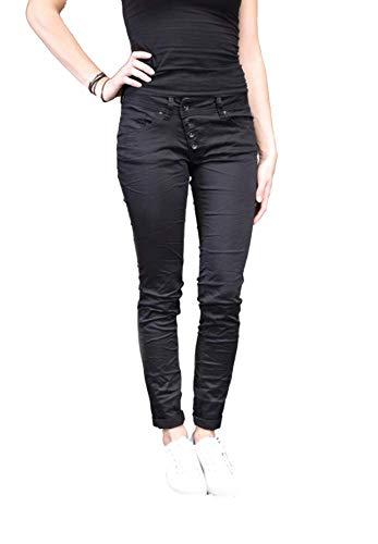 Buena Vista Damen Jeans Malibu Stretch Twill schwarz (15) S