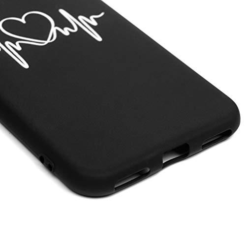 Hülle für Huawei Y6 2019, Honor 8A Rückschale Weich TPU Bumper Dünne Handyhülle [Fingerabdruckerkennung] Pflanzen Geprägt Schutzhülle Bunt Gepresst Handtasche Transparent Gedruckt Case, Streifen